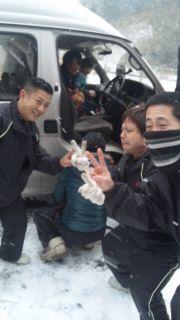 空真館試合帰り雪山で遭難〓2